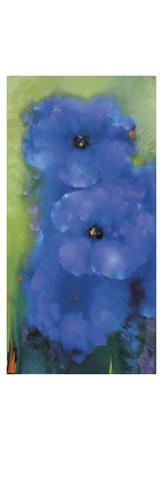 Blue Garden Stretched Canvas Print