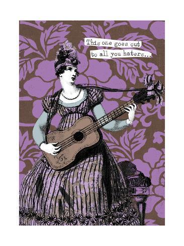 Victorian Woman Playing Guitar Art Print