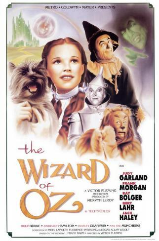 Vier personages uit The Wizard of Oz Masterprint