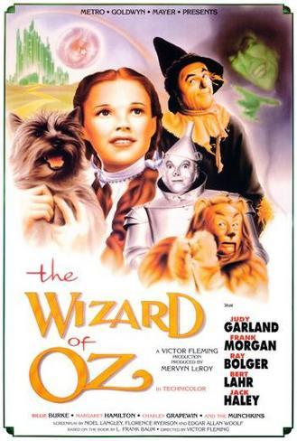 Vier personages uit The Wizard of Oz Poster