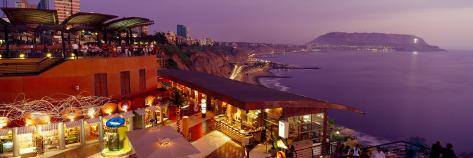 View of a Restaurant, Miraflores District, Lima Province, Peru Valokuvavedos