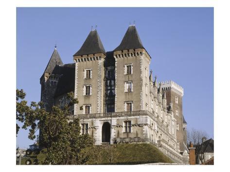 View of Chateau De Pau Since the Park (West Facade) Stretched Canvas Print