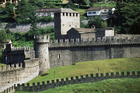 View of Montebello Castle Photographic Print