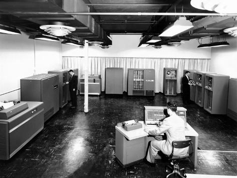 View of New IBM Type '702' Electronic Data Processing Machine, 'Giant Brain' Designed for Business Photo