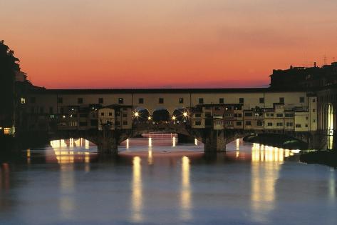 View of Ponte Vecchio (Old Bridge) Photographic Print