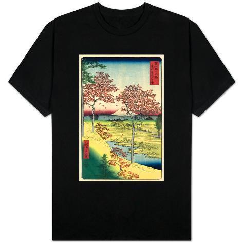 View of the Sunset at Meguro, Edo T-Shirt