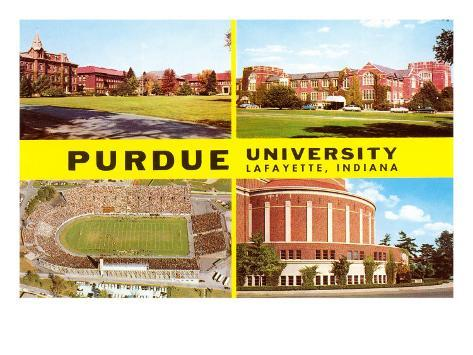 Views of Purdue University, Lafayette, Indiana Art Print
