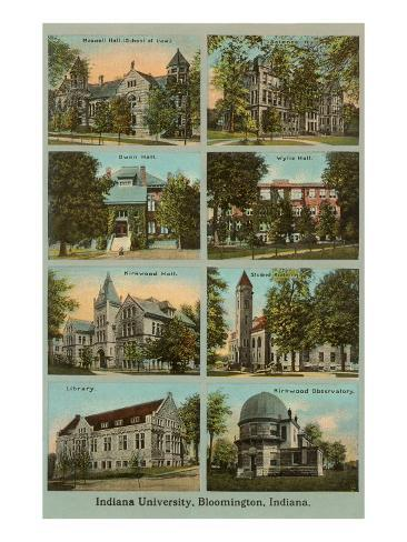 Views of the University, Bloomington, Indiana Art Print