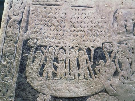 Detail of a Picture Stone Depicting the Last Voyage of the Deceased, from the Isle of Gotland Giclee Print