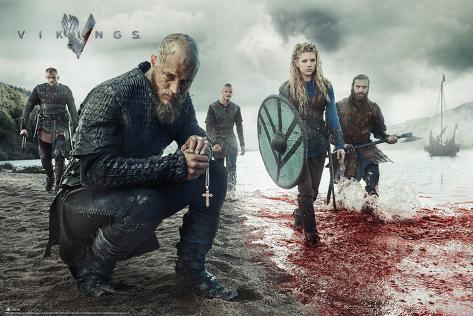 Vikings Blood Landscape Poster