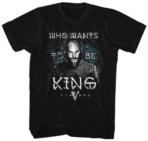 Vikings- Ragnar For King T-Shirt