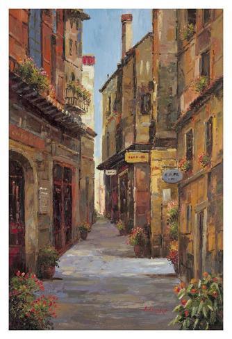 Village Alleyway Art Print