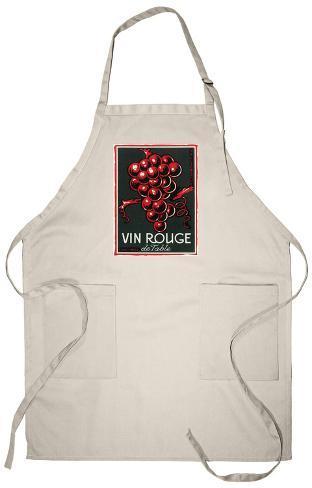 Vin Rouge De Table Wine Label - Europe Apron Apron