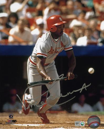 Vince Coleman St. Louis Cardinals Autographed Photo (Hand Signed Collectable) Photo