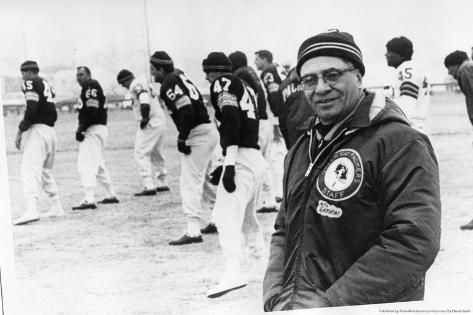 Vince Lombardi on Field Sports Poster Photo