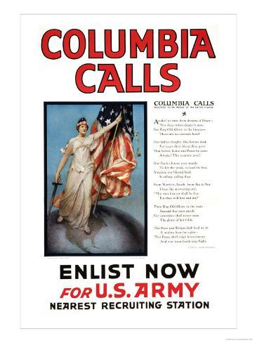 Columbia Calls Art Print
