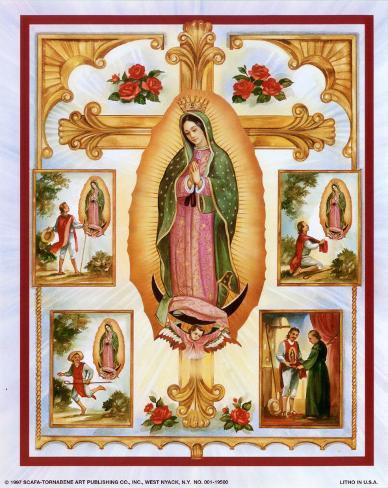 Lady of Guadalupe Montage Art Print
