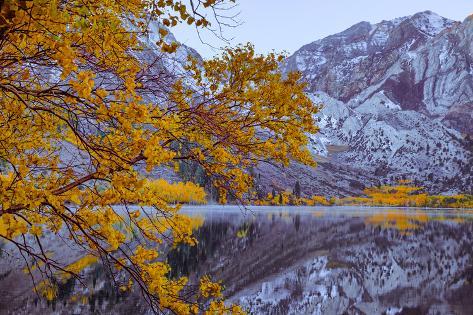 Autumn Reflections Lakeside, Convict Lake Mammoth California Seinämaalaus