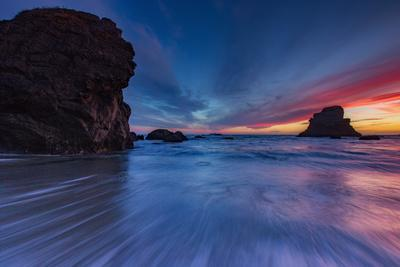 'Moody Seascape After Sunset, Sonoma Coast, California ...