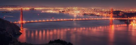 San Francisco Cityscape from the Marin Headlands Photographic Print