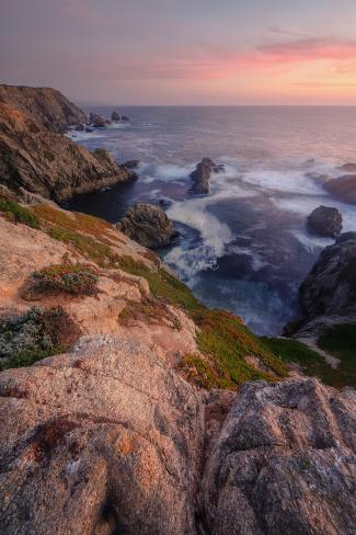 Sunset at Bodega Headlands Photographic Print