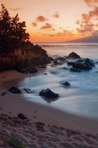 Sunset at Kapalua, Maui Photographic Print