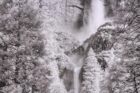 Upper Meets Lower Yosemite Falls, Infrared Photographic Print