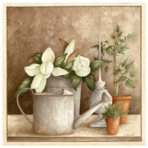 Arrosoir et Fleurs Art Print