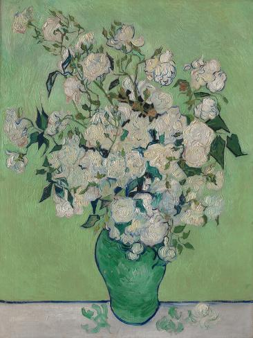 A Vase of Roses, 1890 Lámina giclée