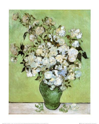 A Vase of Roses, c.1890 Konstprint