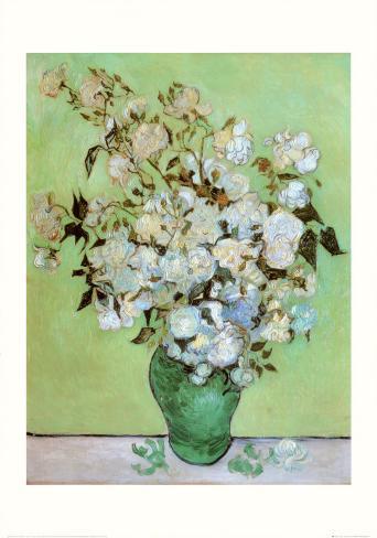 A Vase of Roses, c.1890 Framed Art Print