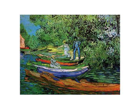 Bank of the Oise at Auvers, c.1890 Art Print
