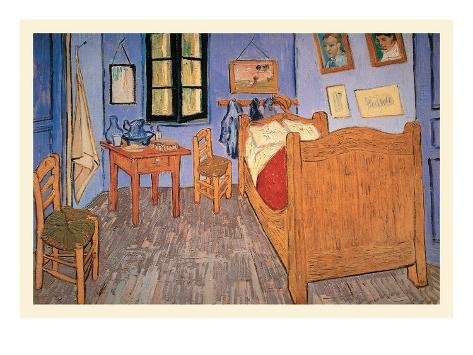 Bedroom at Arles Impressão artística
