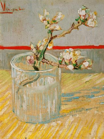 Blossoming Almond Branch in a Glass, c.1888 Giclée-vedos