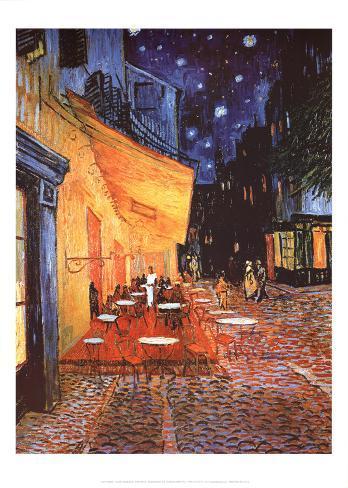 Vincent Van Gogh (Cafe Terrace At Night) Art Poster Print Poster
