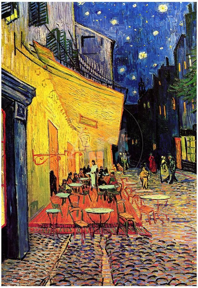 Vincent Van Gogh Cafe Terrace at Night Art Poster Print Posters ...