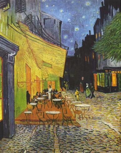 Vincent Van Gogh (Cafe Terrace at Night) Art Poster Print Masterprint
