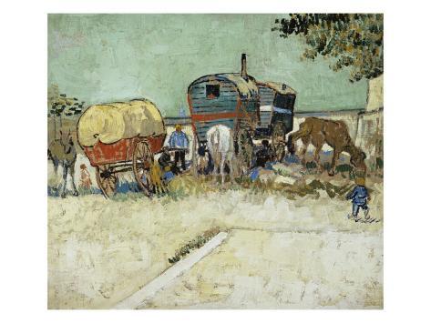 Caravans Encampment of Gypsies Giclee Print