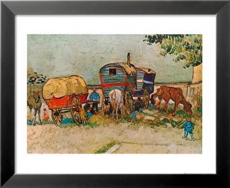 Caravans Encampment of Gypsies Lámina enmarcada con plástico protector
