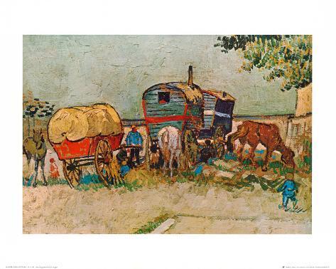 Caravans Encampment of Gypsies Art Print