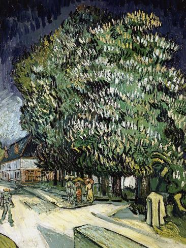 Chestnut Trees in Blossom Giclee Print