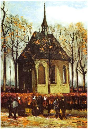 vincent van gogh congregation leaving the reformed church in nuenen rh allposters com