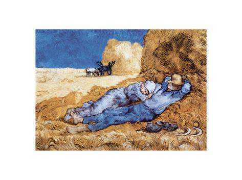 Descanso no meio do dia, após colheita, cerca de 1890 Impressão artística