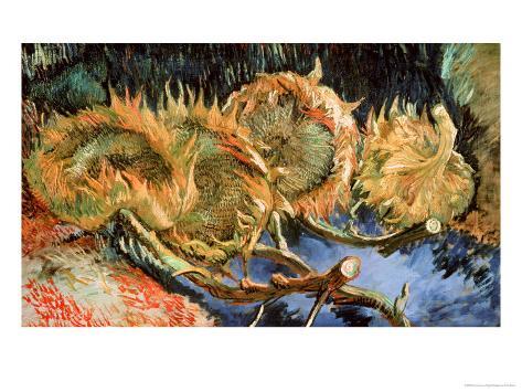 Four Cut Sunflowers, c.1887 Giclee Print