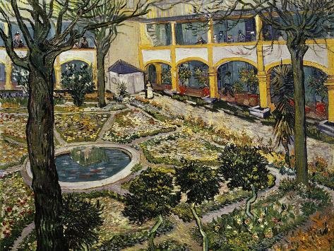 Charming Garden Of The Hospital At Arles Giclee Print By Vincent Van Gogh At  AllPosters.com
