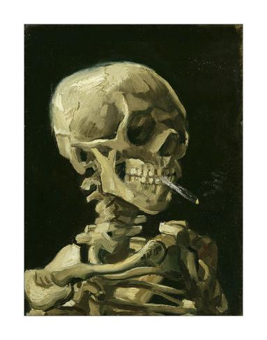Head of a Skeleton with a Burning Cigarette, 1886 Giclee Print