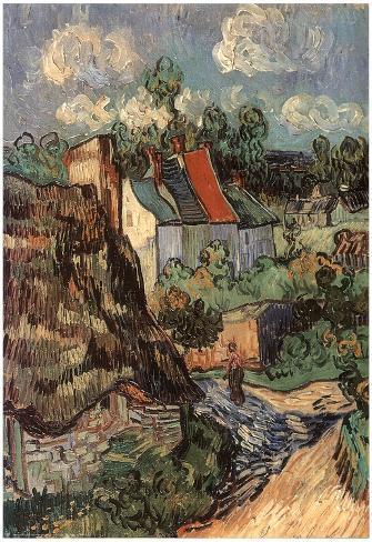 Vincent Van Gogh (House Of Auvers) Art Poster Print Poster
