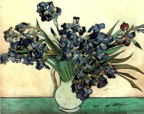 Vincent Van Gogh Irises In Vase Art Print Poster Posters At