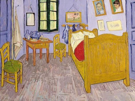 La camera da letto di vincent ad arles 1889 stampa gicl e di vincent van gogh su - La camera da letto van gogh ...