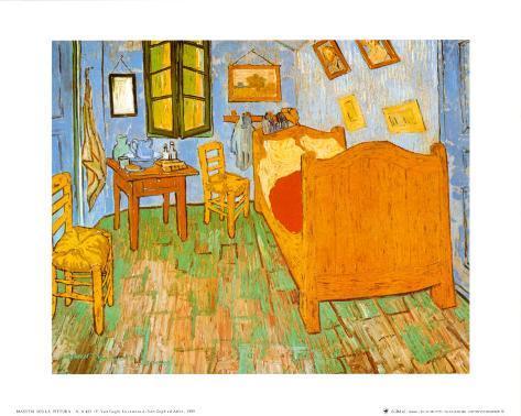 La habitación en Arlés, c.1887 Lámina